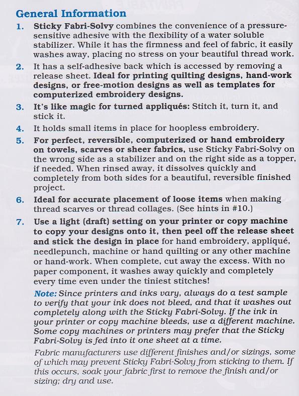 Fabri Solvy.....General Information page 1